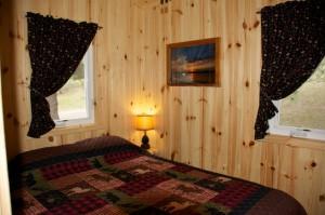 Cabin 1 Hummingbird - queen bedroom