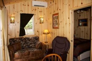 Cabin 1 Hummingbird - living area