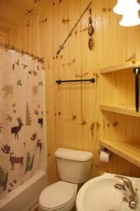 Cabin 1 Hummingbird - full bath