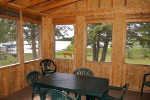Cabin 10 Moose - screened porch