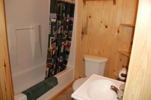 Cabin 2 Walleye - full bath