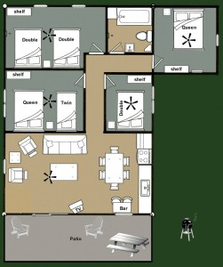 Cabin 2 Walleye - Floorplan