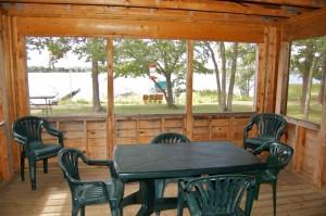 Cabin 6 Eagle - screened porch