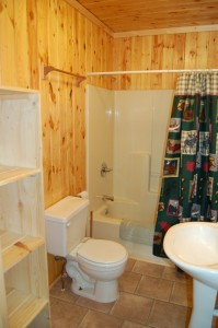 Cabin 7 Loon - full bath