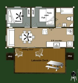 Cabin 8 Sunflower - floorplan