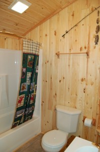 Cabin 8 Sunflower - full bath