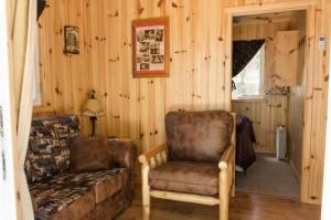 Cabin 1 Hummingbird - living