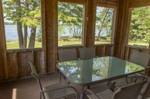 Cabin 10 Moose - screen porch
